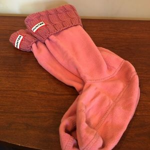 Pink hunter boot socks